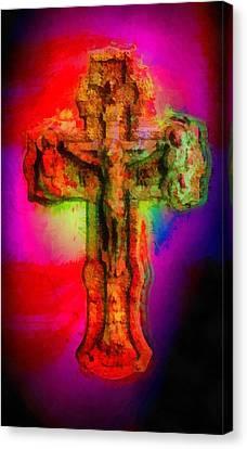 Icon Canvas Print - Jesus Christ - Religious Art by Elena Kosvincheva