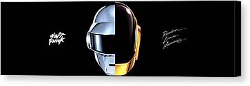 43756 Daft Punk Dual Screen Dual Monitor Daft Punk Random Access Memory Dual Screen Canvas Print
