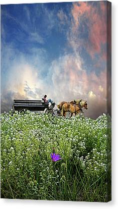 Canvas Print featuring the photograph 4376 by Peter Holme III