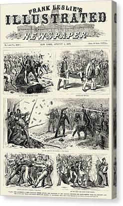 Great Railroad Strike, 1877 Canvas Print by Granger