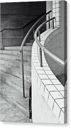 Brutalist Canvas Print - Stone Steps by Tom Gowanlock