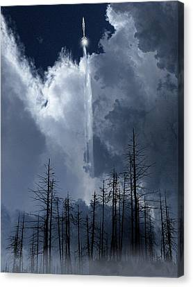 Canvas Print featuring the photograph 4404 by Peter Holme III