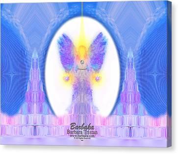 444 Angel Crystals Canvas Print by Barbara Tristan
