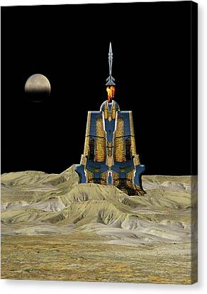 Canvas Print featuring the photograph 4481 by Peter Holme III