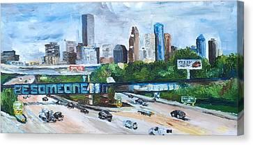 45 South, Houston, Texas Canvas Print by Lauren Luna