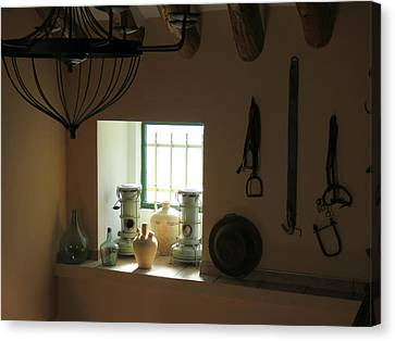 Cortijo Canvas Print - 450 Year Old Spanish Farm House  by J Darrell Hutto
