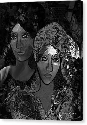Canvas Print featuring the digital art 452 - Secrets Of Friendship by Irmgard Schoendorf Welch