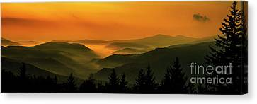 Canvas Print featuring the photograph Allegheny Mountain Sunrise by Thomas R Fletcher