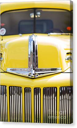 46 Pick Up In Yellow Canvas Print by Tim Gainey