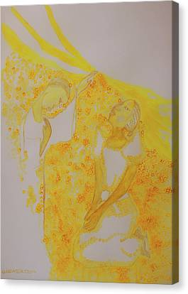 The Annunciation Canvas Print by Gloria Ssali