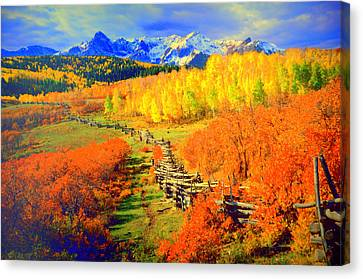 Yellowstone Park Canvas Print by Aron Chervin