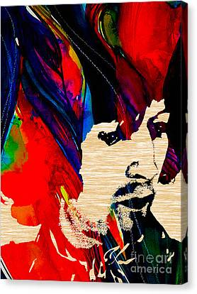 Eric Clapton Collection Canvas Print by Marvin Blaine