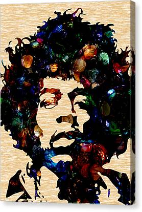 Music Canvas Print - Jimi Hendrix Collection by Marvin Blaine