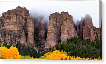 Landscapes Drawing Canvas Print by Victoria Landscapes