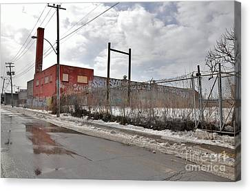4814 Dunn Street Urban Exploration Canvas Print by Reb Frost