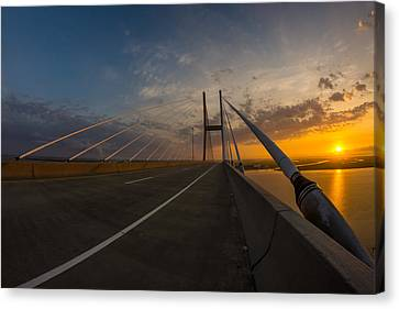 486 Feet Sunrise Canvas Print by Chris Bordeleau