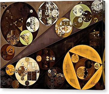 Abstract Painting - Zinnwaldite Brown Canvas Print by Vitaliy Gladkiy