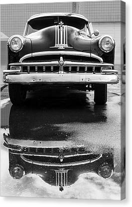 49 Pontiac After A Rain Canvas Print by Jim Hughes