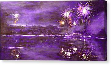 4rh Of July Celebration Canvas Print by Terry Honstead