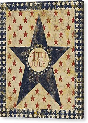 4th July Canvas Print - 4th Of July Americana by Erika Moriarty
