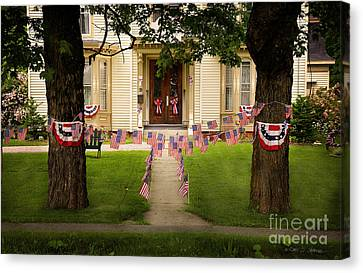 Canvas Print featuring the photograph 4th Of July Home by Craig J Satterlee
