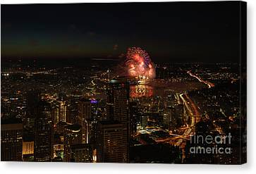 4th Of July In Seattle Canvas Print by Mike Reid