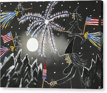 Well Endowed Canvas Print - 4th Of July by Jeffrey Koss