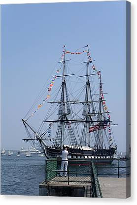 4th Of July Turnaround Uss Constitution Castle Island South Boston Ma Canvas Print