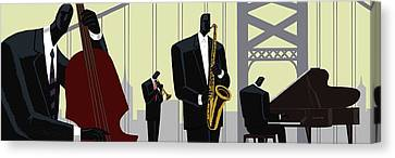 4th Street Bridge Quartet  Canvas Print