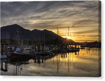 4th Street Docks Sunrise - Tofino Canvas Print