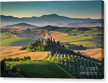 A Morning In Tuscany Canvas Print by JR Photography