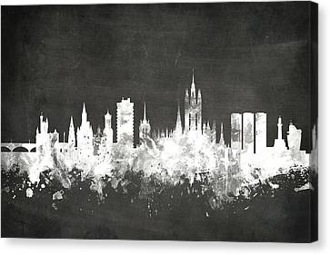 Aberdeen Scotland Skyline Canvas Print by Michael Tompsett