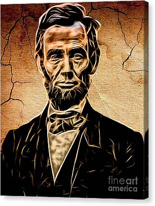 Abraham Lincoln Canvas Print - Abraham Lincoln Collection by Marvin Blaine