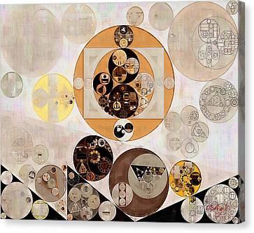 Abstract Painting - Brown Pod Canvas Print by Vitaliy Gladkiy