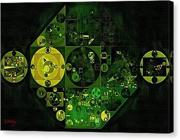 Abstract Painting - Lincoln Green Canvas Print by Vitaliy Gladkiy