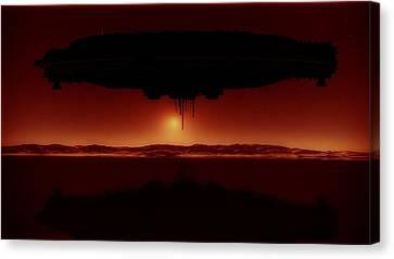Alien Invasion By Raphael Terra Canvas Print