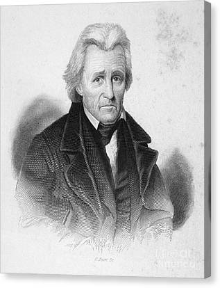 Andrew Jackson (1767-1845) Canvas Print by Granger