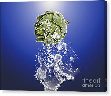 Artichoke Splash Canvas Print by Marvin Blaine