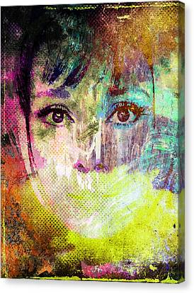 Audrey Hepburn Canvas Print by Svelby Art