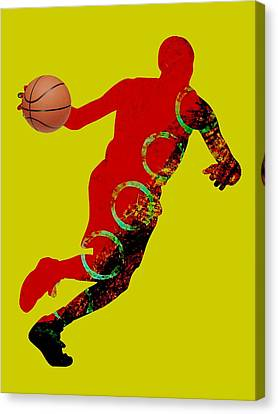 Basketball Collection Canvas Print by Marvin Blaine