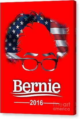 Politicians Canvas Print - Bernie Sanders by Marvin Blaine