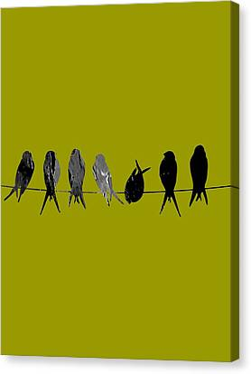 Tree Art Canvas Print - Birds On A Wire Collection by Marvin Blaine