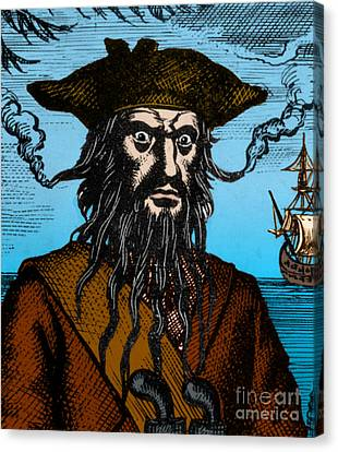 Blackbeard Edward Teach English Pirate Canvas Print by Science Source