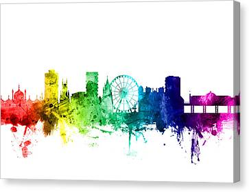 Brighton England Skyline Canvas Print by Michael Tompsett