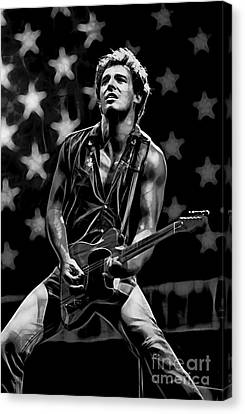Bruce Springsteen Canvas Print - Bruce Springsteen Collection by Marvin Blaine