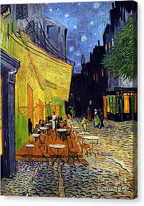 Cafe Terrace At Night Canvas Print by Starry Night