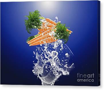 Carrot Splash Canvas Print by Marvin Blaine