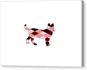 Red Cat Wine Canvas Print - Cat by Steph J Marten
