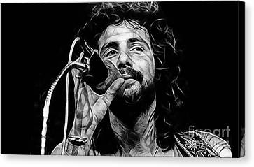 Cat Stevens Collection Canvas Print by Marvin Blaine