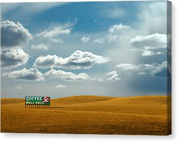 5 Cent Coffee Canvas Print by Todd Klassy